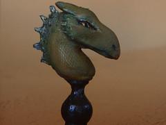 Miniature dragon bust