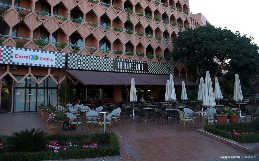 Une des nombreuses terrasses d'hôtel
