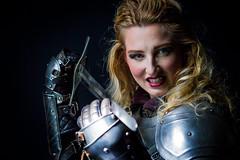 Knight woman (Bert de Bruin) Tags: knight model makeup modelsangeleface portrait power dangerous blond beautiful natural n