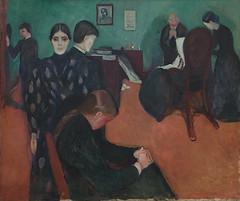 Edvard Munch, Death in the Sick Room, 1893, Oil on canvas, SFMOMA (Sharon Mollerus) Tags: edvardmunchbetweentheclockandthebedexhibit sanfrancisco california unitedstates us cfpti17