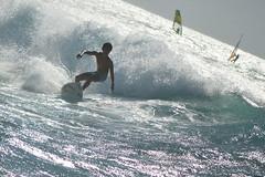 On his way back in (radargeek) Tags: isleofmaui maui hawaii hookipabeachpark surfing child kid surfer wave windsurfing