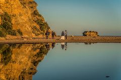 The Wedding Party 2! DSC_5750 (BlueberryAsh) Tags: anglesea fff wedding sea seascape australia rocks aireysinlet water reflection photographer nikond750 nikon24120 sunset