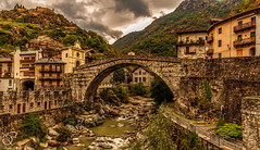 Great Idea (BeNowMeHere) Tags: ifttt 500px sky landscape city water nature river travel house old tourism architecture bridge building town stone mountain ancient hill idea panoramic trip outdoors italy village roman medieval aosta pontsaintmartin aostavalley