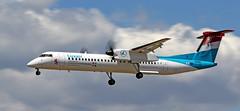 Luxair / Bombardier Dash 8 Q400 / LX-LGG (vic_206) Tags: bcn lebl spotting luxair bombardierdash8q400 lxlgg turbodrop