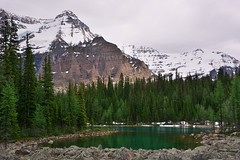 Linda lake (Adam Wang) Tags: mountain lake tree glacier landscape snow scenic outdoors hike travel nature