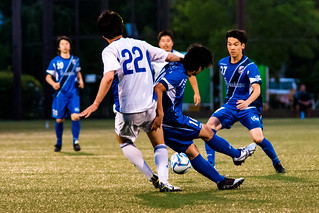 At Football Game