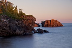 sunset, sawpit bay (twurdemann) Tags: 03ndsoftgrad algoma beach canada detailextractor fujixt1 gnd1s highway17 hoyandx8 lakesuperior landscape leeseven5 longexposure nature neutraldensityfilter nikcolorefex northernontario ontario sawpitbay scenic seascape shoreline solitude stonebeach sunset transcanadahighway viveza water xf1855mm
