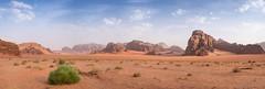 Wadi Rum Panorama (JoshyWindsor) Tags: rumstarscamp panorama sand landscape desert travel fujinonxf35mmf14 bush expanse fujifilmxt10 jordan middleeast arid holiday wadirum