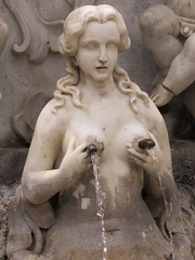 Italian sculpture sorento (devonpaul) Tags: statue fountain rude funny water crazy italy tap nipples nude milking leaking expressing breast tits