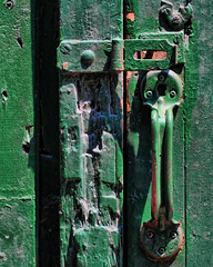 keyhole ~ Distillery District (Sally E J Hunter) Tags: toronto green handle keyhole distillery moo1