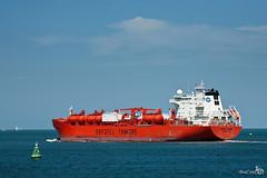 Bow Star (BraCom (Bram)) Tags: orange clouds industrial sailing ship vessel cargo tanker maasmond bowstar odfjelltankers bracom bramvanbroekhoven
