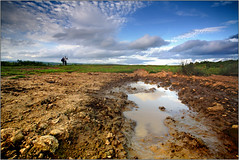 Another something from nothing! (opobs) Tags: sky mountains grass southwales wales clouds photoshop reflections puddle evening july wideangle bigsky canon5d bracken common gitzo bcc 2010 bridgend 1740mml countyboroughofbridgend cefnhirgoed opobs cokinxpro bridgenddistrictcameraclub michaeljstokesawpf
