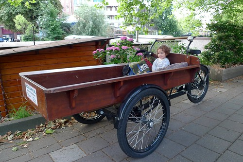 pascal rides in the big bakfiets
