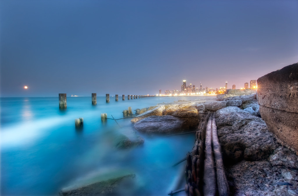A long exposure from North Ave. Beach.