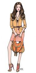 (Rimma Maslak) Tags: toronto ontario canada art girl look illustration photoshop design dress drawing blonde heels initials 2010 rm fashionsketch fashionillustration beltedjacket rimmamaslak orangehobobag