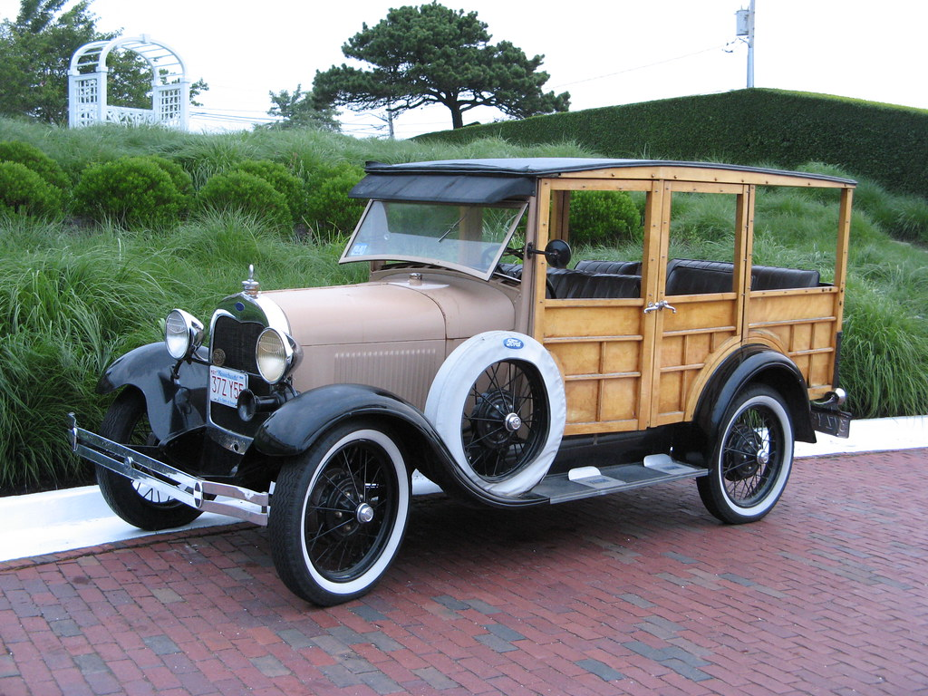 "Chatham MA: Vintage Ford ""Woodie"""