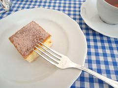 bolo de canela pedaço