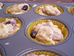 blueberry muffins - into the oven