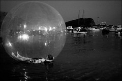 Kids in Balls (Kate_Lokteva) Tags: bw monochrome kids ball children kid child montenegro   budva   spere  mne     gettyvacation2010