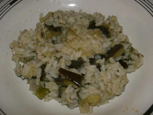 aubergine eggplant risotto