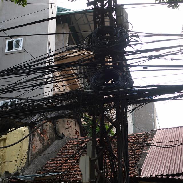 很豐富的電線