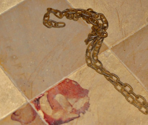 Blood Stain Next To Chain
