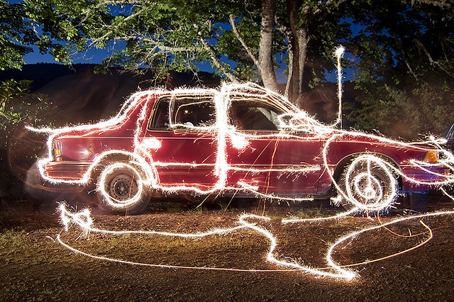 Long exposure car