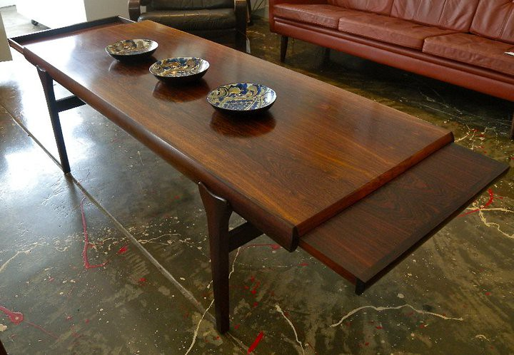 Danish rosewood coffee table by Johannes Andersen