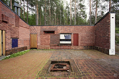 Muuratsalo Experimental House (@archphotographr) Tags: trees red house lake color detail brick nature wall pine architecture modern facade forest canon finland ceramic island moss bush fireplace rocks experimental exterior open natural con