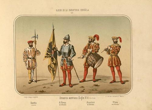 006- Álbum de la Infantería Española..-1861- conde de Clonard