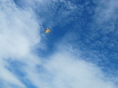 kite flying 2 (ecobomb) Tags: sky cloud kite beach fun flying wind windy formations