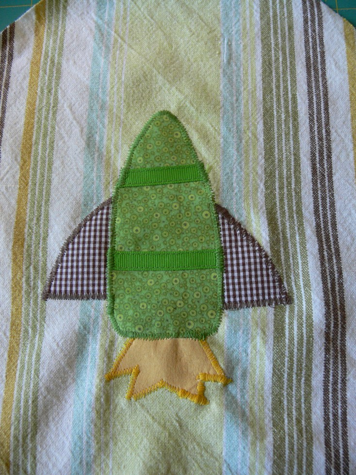 Jenny: Rocket Ship Applique
