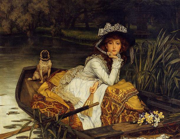 j tissot young lady in a boat