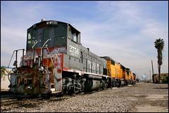 MP15AC Under Blue Anaheim Skies (greenthumb_38) Tags: california railroad digital train rebel canon300d sp locomotive 1855mm orangecounty anaheim crud switcher southernpacific espee mp15ac yardgoat westanaheim jeffreybass