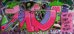 Pink and Purple (UsRID) Tags: wall graffiti us fame what has ai become rid denham aeon wof