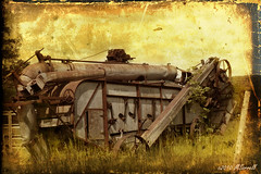 Combine Harvester (Passion4Nature) Tags: michigan grain textures combine threshing farmmachinery combineharvester antrimcounty memoriesbook magicunicornverybest