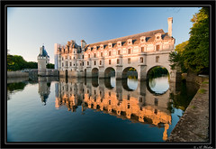 Chateau Chenonceau (a3aanw) Tags: sunset reflection castle nikon cher chateau loire chenonceau kasteel d300 tokina1116mmf28 zomervakantie2010