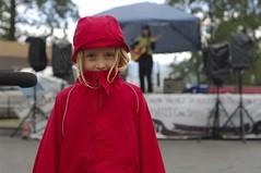 Rachelle in the rain