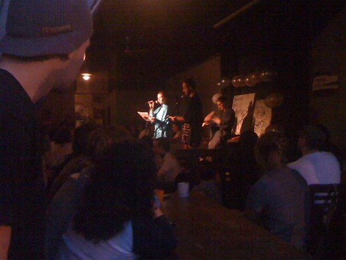 Annual haiku poetry slam at Cafe Deux Soleils on Commercial Drive in Vancouver, BC, Canada