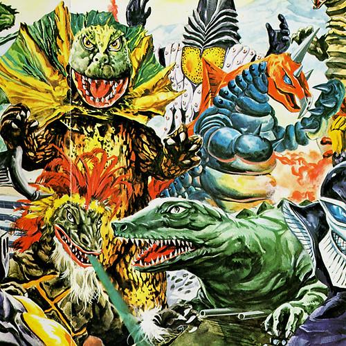 Kaiju Paintings by Toshio Okazaki