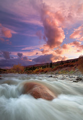 Autumn Color (Wolfhorn) Tags: autumn sunset nature alaska creek landscape wilderness mywinners