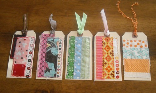 scrappy selvedge gift tags