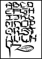 Future Handstyle (HeavenEightySeven) Tags: street art public digital writing typography graffiti design words graphic letters creative writer fi alphabet calligraphy fonts markers futuristic sci typeface cholo handstyle squarish