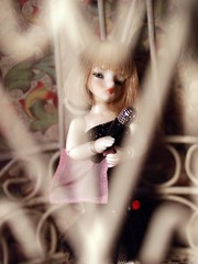 with only her microphone (suzanne~in~phoenix) Tags: singer dazzle siren 1930 secretdoll babyfairy