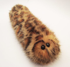 Leopardoptera Caterpillar (Mutant Caterpillar) Tags: conservation plush caterpillar softie leopard stuffedanimal plushie geneticengineering softtoy stuffie lisamiller furtrade mutantcaterpillar artistlisamiller