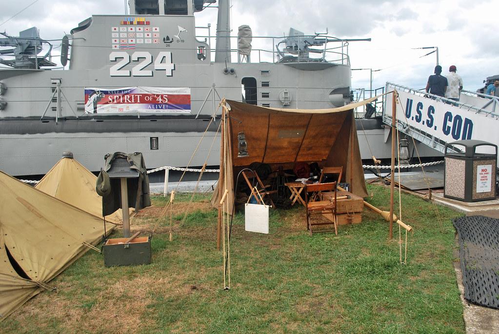 USS Cod Bivouac Reenact