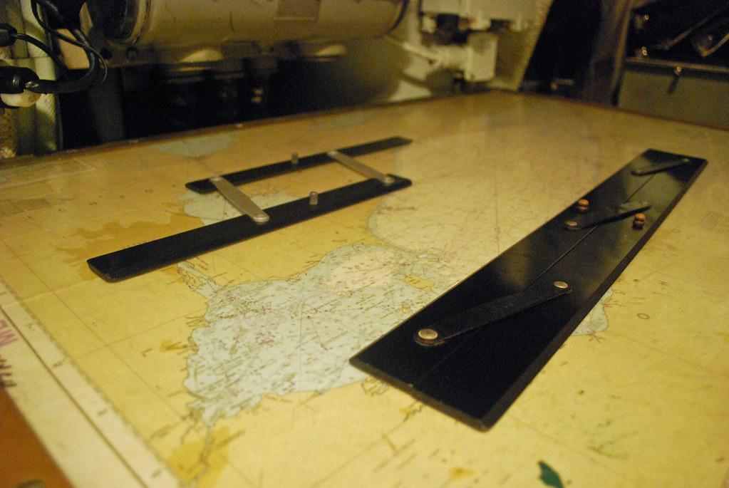 USS Cod Control Nav Table