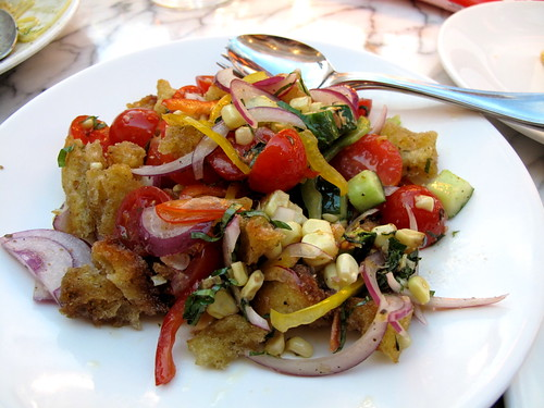 Summer Vegetable Panzanella at Otto in Vegas