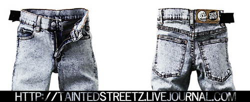 #12 Acid wash stone gray jeans