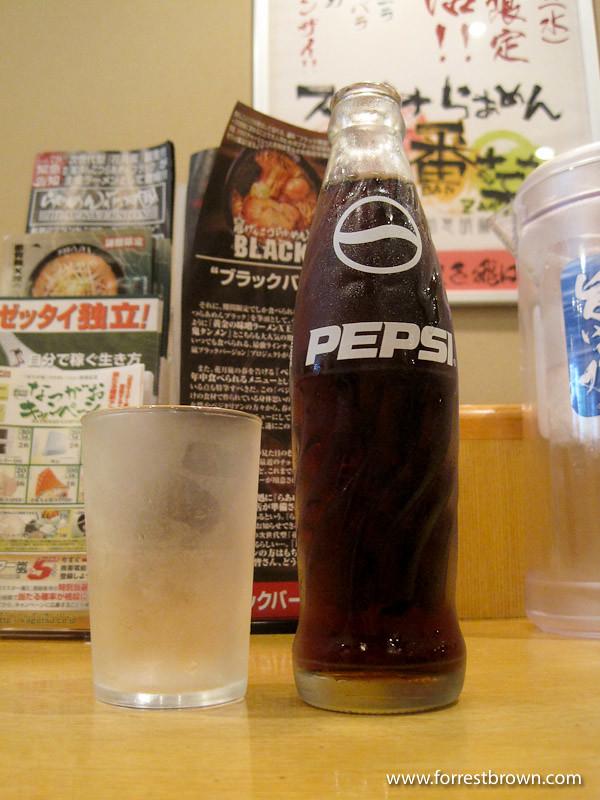 Devil ramen in a Tokyo ramen restaurant
